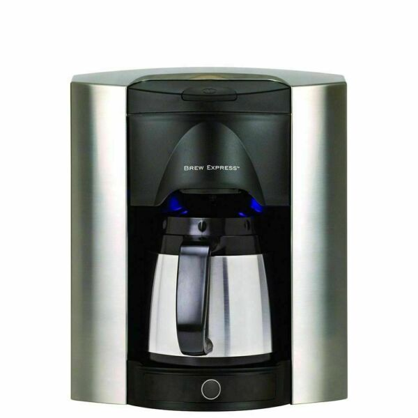 Brew Express Built In wall coffee maker 4 Cup Satin Chrome Model: BE 104C 133A