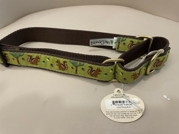 l Dog Martingale Collar Up Country Made In USA Nuts amp; Squirrels M L XL $15.00