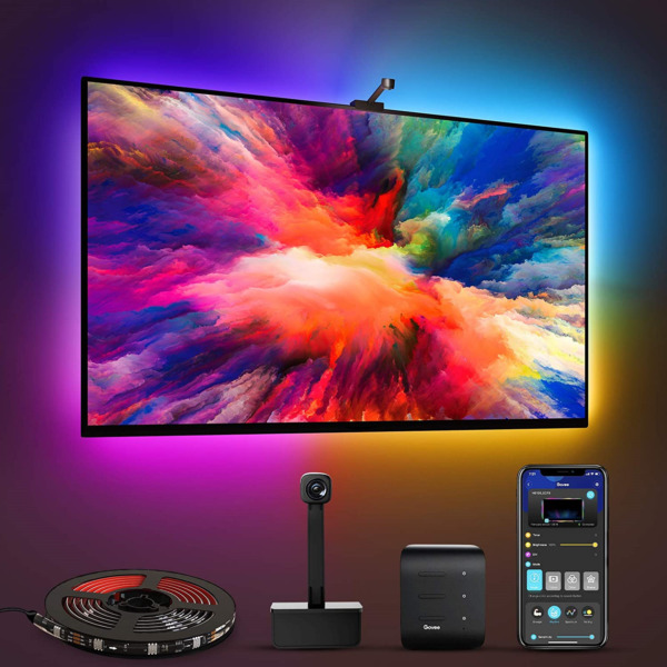 Govee Immersion TV LED Backlights with Camera RGBIC Ambient Wi Fi TV Backlights $90.34