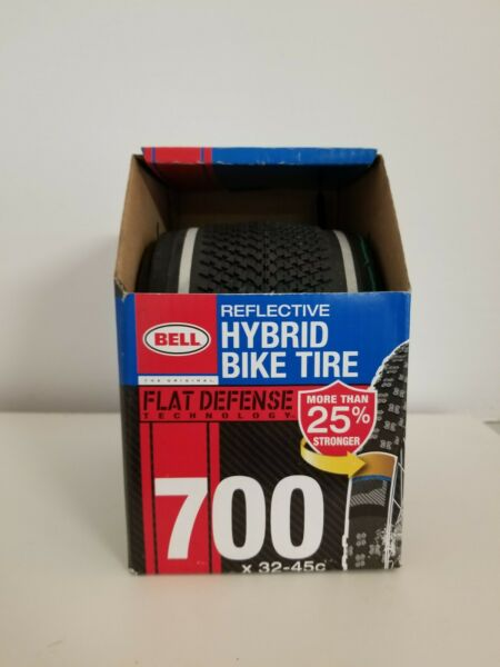 Bell Bicycle Reflective Hybrid Tire Flat Defense Tire 700 X 32 45C BB102 $19.87