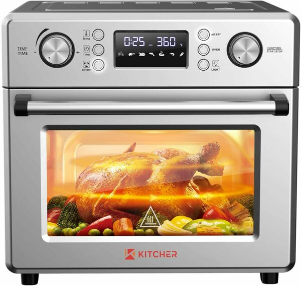 26.5QT Air Fryer Oven Countertop Toaster Oven 6 Slice Convection Ovens