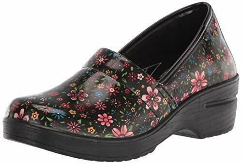 Easy Works by Easy Street Women#x27;s Laurie Clog Black Bright Groovy Patent 10 $29.00