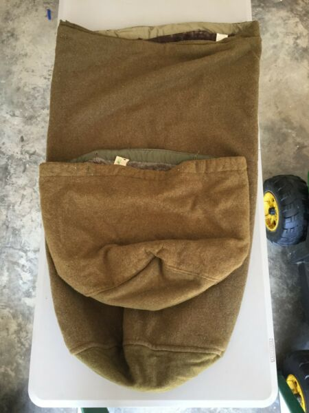WWII 10th Mountain Bag Foot Pile Lined Camp Hale Ski 85th 86th 87th RARE 1942 $649.99