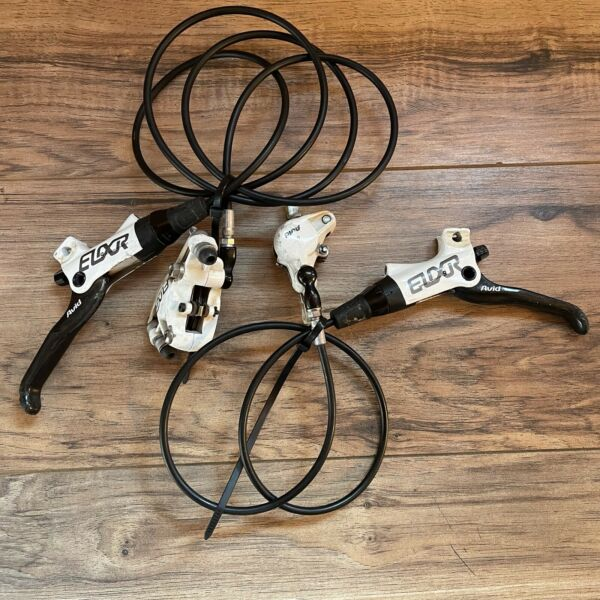 Avid Elixir 9 White Carbon Lever Hydraulic Disc Brakes Front amp; Rear No Bar Clamp $89.99
