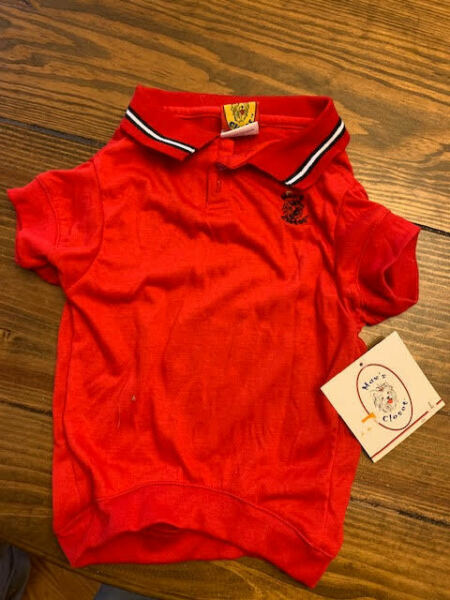 NWT Max#x27;s Closet Red Polo Shirt Dog LARGE L $9.99