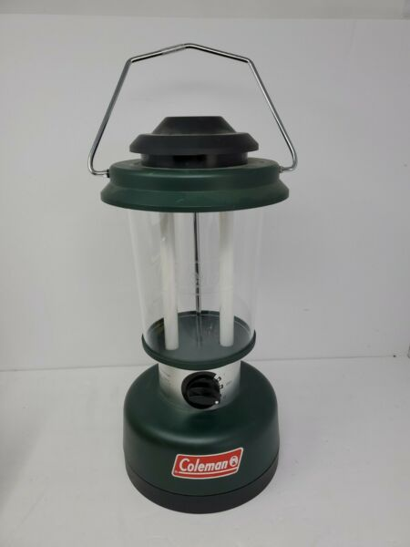 Coleman Electric Lantern Model 5355 700 Twin Tube Fluorescent Fast Shipping $15.99