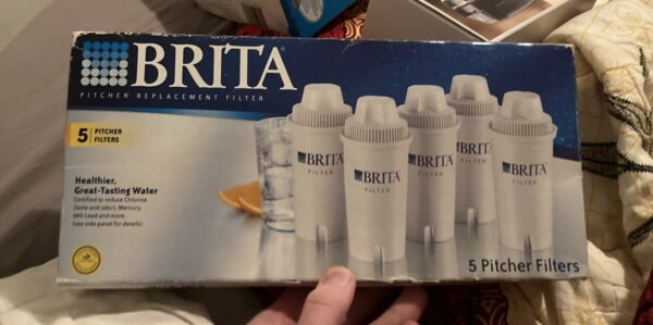 Brita Pitcher Replacement Water Filter Cartridges Box of 5 New