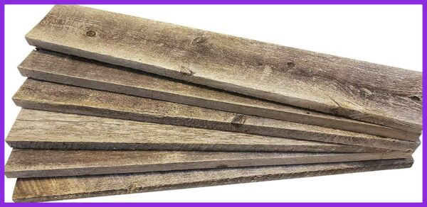 Barnwood Craft Wood For DIY Projects 100% Authentic Reclaimed Weathered Rustic P $34.11