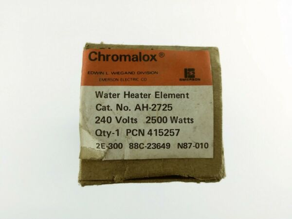 NOS Chromalox Electrical Immersion Water Heater Element AH2725 415257 240V 2500W $16.96