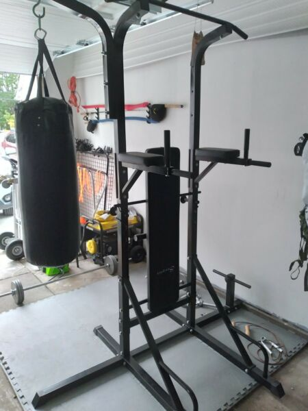 Soozier 86quot; Multi Function Full Body Power Tower Home Gym with Punching Bag $175.00