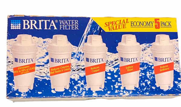 Brita Water Filtration Pitcher Replacement Filter Cartridges 5 Pack SEALED