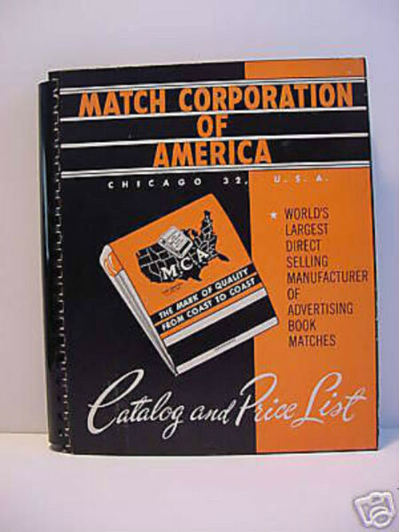 Sales Supply Premium Promotion Catalog Match Matchbook Advertising Matches MFG X
