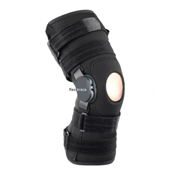 New Flexibrace Wrap Around Hinged Knee Brace Support Adjustable