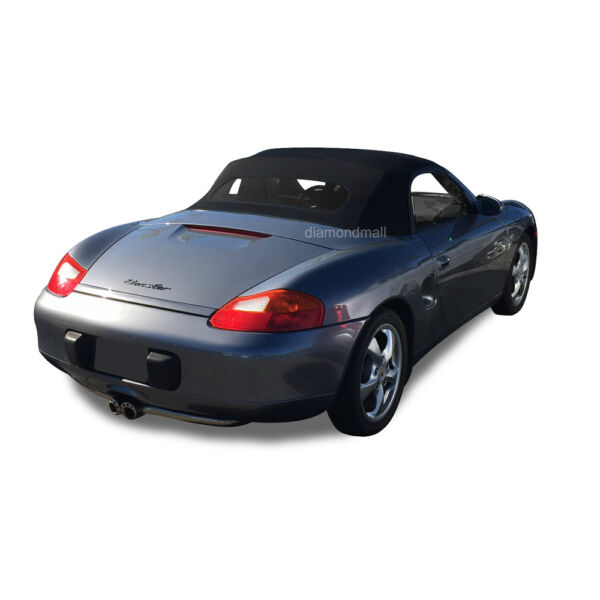 Porsche Boxster 1997-02 Convertible Soft Top & Heated Glass Window Black Cloth