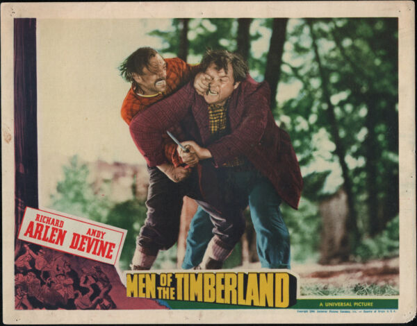 MEN OF THE TIMBERLAND original 1941 lobby card ANDY DEVINE 11X14 movie poster $27.99