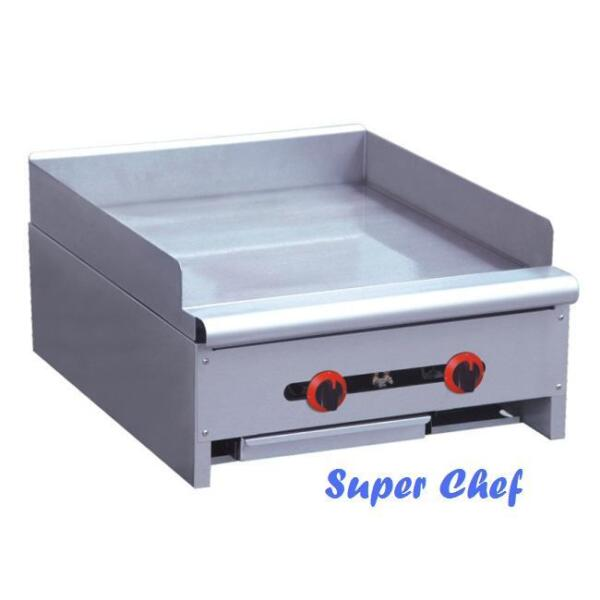 New Griddle Gas 24quot; Heavy Duty 60000 BTU Stainless Steel LP or NAT GAS