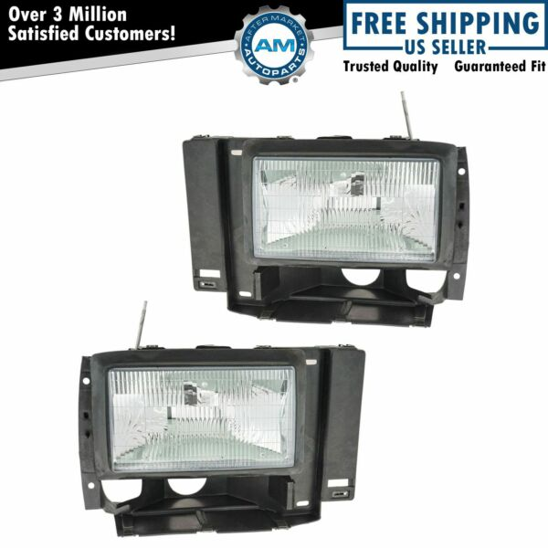 Headlights Headlamps Left & Right Pair Set for Ford Explorer Ranger Pickup Truck