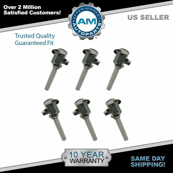 Ignition Coils Kit Set of 6 NEW for Ford Taurus Mazda 6 MP-V MPV Sable 3.0L