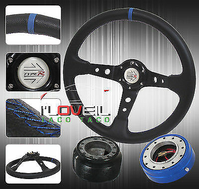 89-05 ECLIPSE 350MM STEERING WHEEL+ SLIM QUICK RELEASE + HUB ADAPTER + JDM HORN