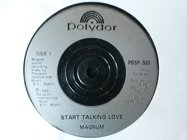 VINYL 7quot; SINGLE START TALKING LOVE MAGNUM POSP920