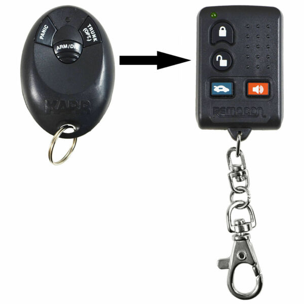 New Aftermarket Remote Key Keyless Entry Fob Alarm Car For Karr FCC ID ELVAT5H