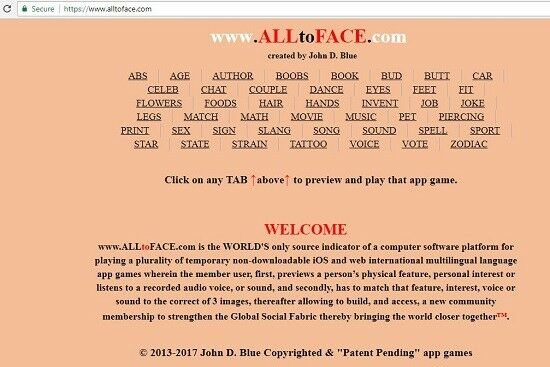 ALLtoFACE™ 40 + app games are FOR SALE