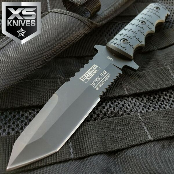 9quot; Combat Tactical Bowie Hunting Knife Military Fixed Blade Survival Sheath