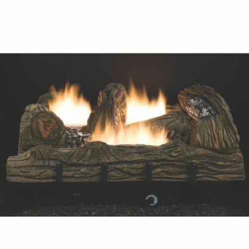 NEW COMFORT GLOW CF2436NT 24quot; NATURAL GAS LOGS SET VENT FREE THERMOSTAT 6955801