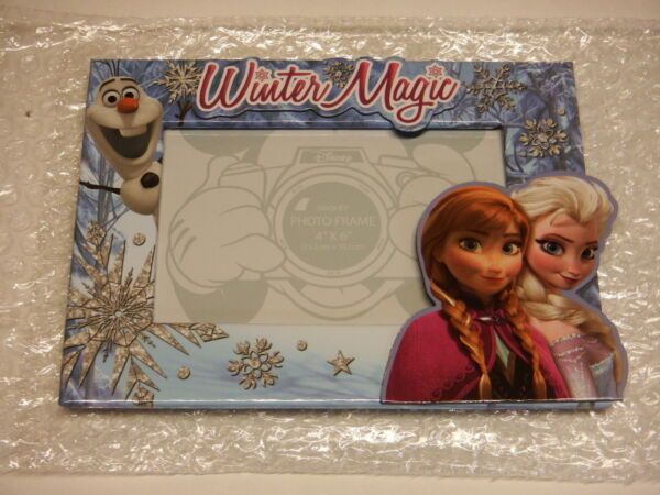 Disney, Frozen Trio Elsa Anna Olaf Picture Frame, 4x6 photo