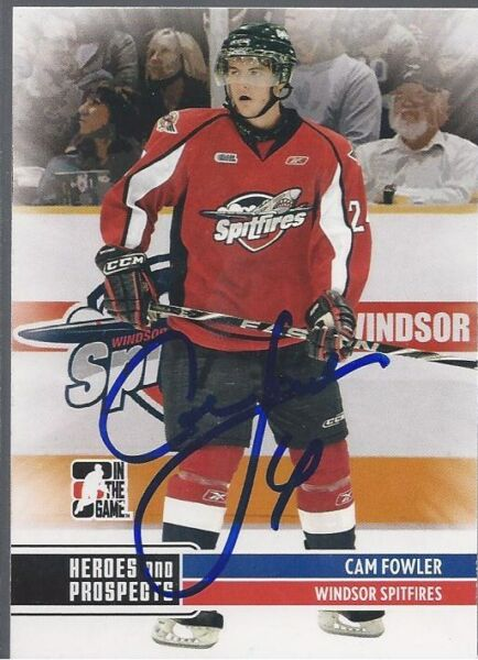Anaheim Ducks CAM FOWLER Signed Heroes & Prospects Card