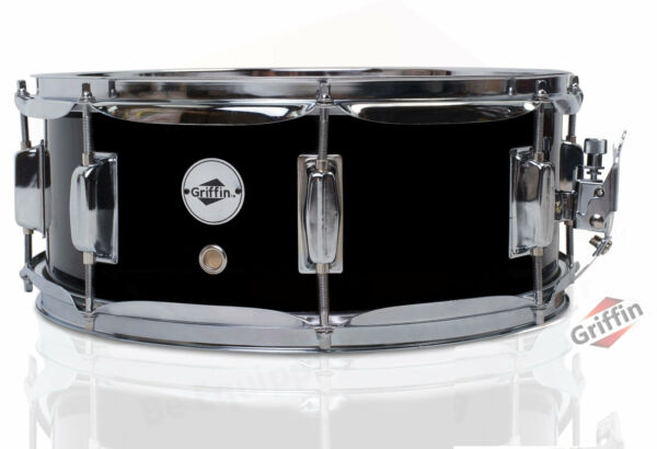 Griffin Snare Drum – Black 14x5.5 Poplar Wood Shell 14