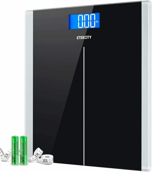 Etekcity Digital Body Weight Bathroom Scale Step-On Technology 400lb180kg Black