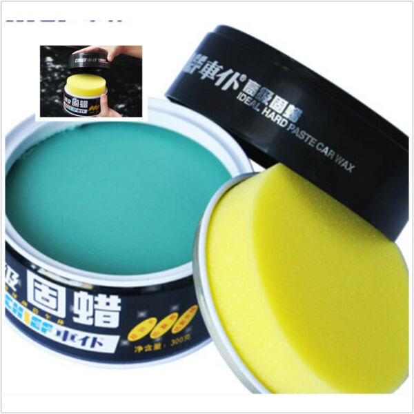 Car Coat Soft Wax Polishes Solid+Sponge Uv Protection Deep Shine Water Repellent