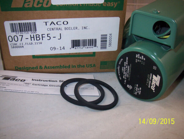 Taco Pump 007 HBF5 J Cast Iron AND Flange Kit Central Boiler Circulates Water $142.95