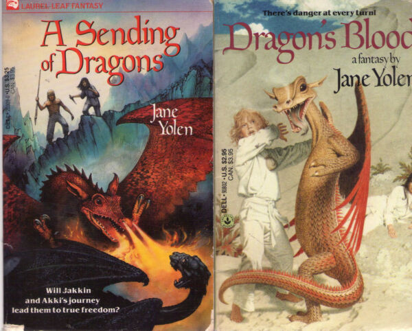 Complete Set Series Lot of 4 Pit Dragon Chronicles books by Jane Yolen Heart