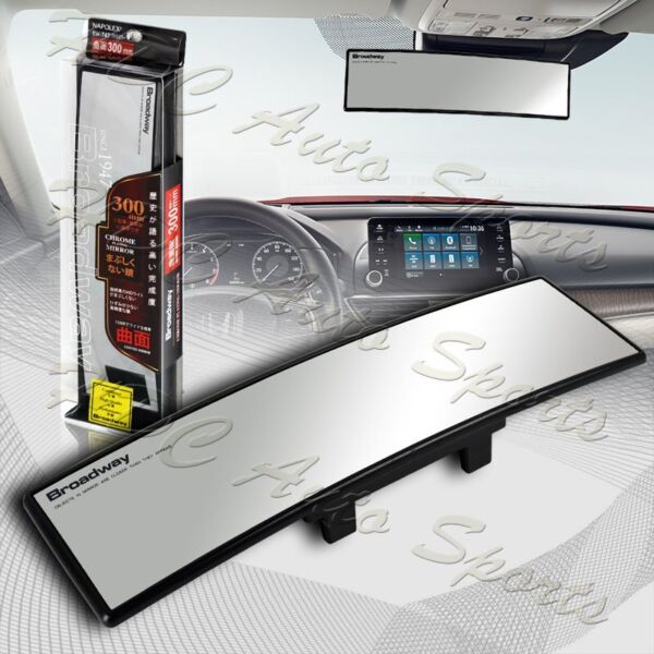 Broadway 300MM Wide Convex Interior Clip On Rear View Clear Mirror Universal 1 $12.59