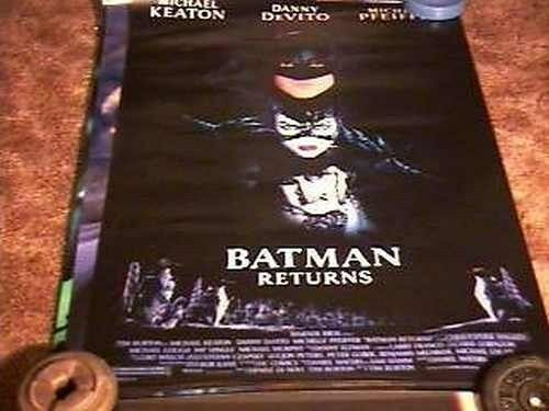 BATMAN RETURNS CAST 27X41 MOVIE POSTER TIM BURTON