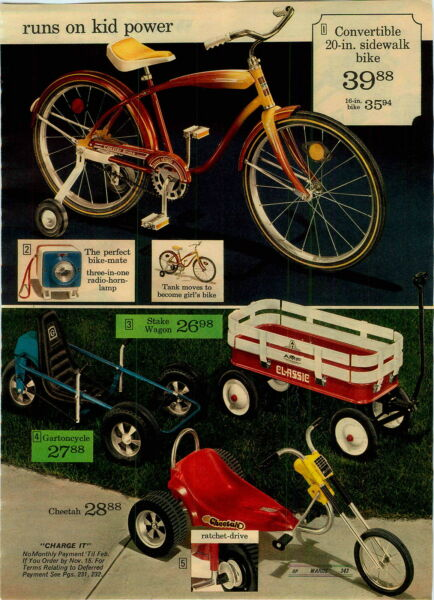1974 PAPER AD Pedal Vehicle Tractor Trailer Sno-Mobile Gartoncycle Cheetah Stake