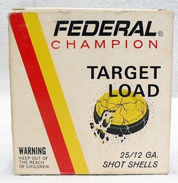 OLD FEDERAL CARTRIDGE EMPTY 12 GAUGE TARGET LOADS AMMO BOX LOT 2