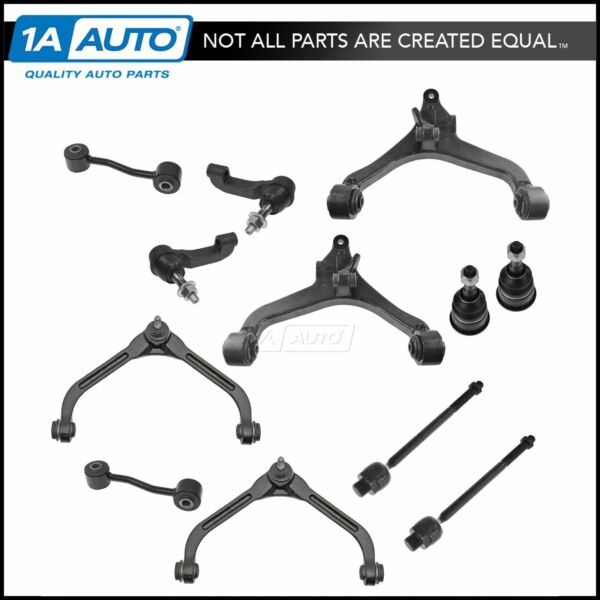 TRQ 12 pc Steering & Suspension Kit Set Front LH RH for 02-04 Jeep Liberty New