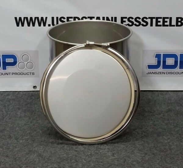 10 Gallon Stainless Steel Open Top Drum $215.00