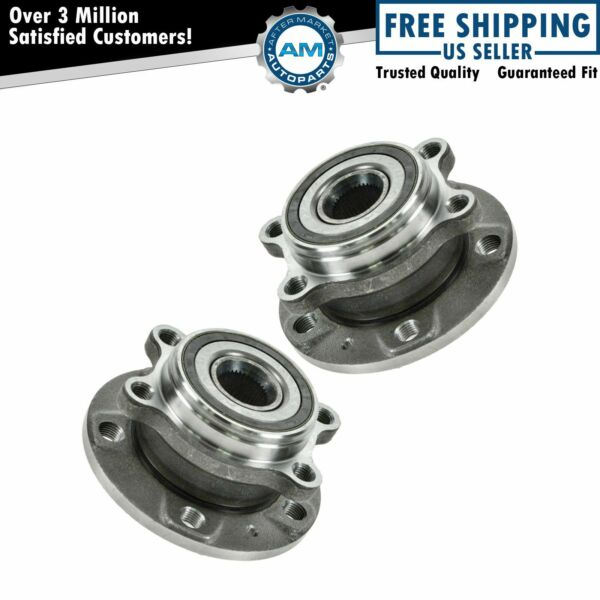 Front Wheel Hub & Bearing Kit Pair for Audi A3 TT VW Passat Jetta Golf