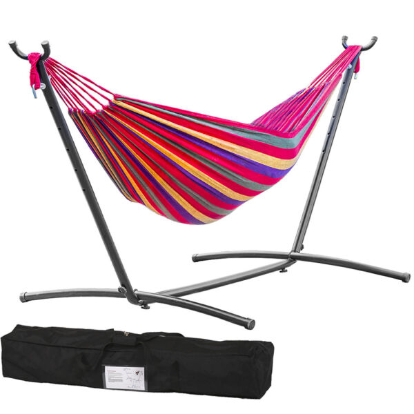 Hammock Stand With Space Saving Steel Stand Includes Carrying Case Red M32 $89.99