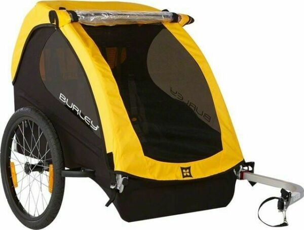 Burley Bee Child Bicycle Trailer Bike Child Wagon 100lb Cap Yellow Tag Along $299.99