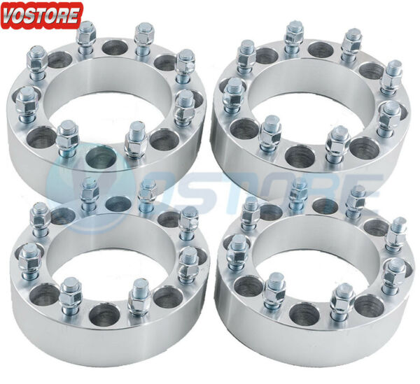 4 2quot; 8 Lug Black Wheel Spacers 8x6.5 for Dodge Ram 2500 3500 Ford 9 16quot; Studs