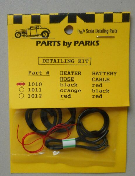 RADIATOR HEATER HOSE CABLE 1:24 1:25 PART BY PARKS CAR MODEL ACCESSORY 1010