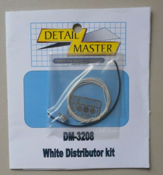 WHITE WIRED DISTRIBUTOR KIT 1:24 1:25 DETAIL MASTER CAR MODEL ACCESSORY 3208