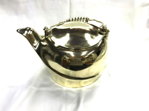 Antique Brass Kettle Humidifier Pot Steamer Wood Stove Kettle Solid Brass