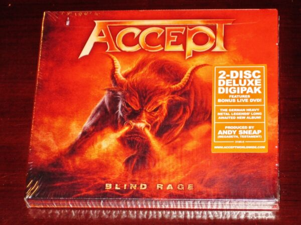 Accept: Blind Rage Limited Deluxe Edition CD DVD Set 2014 NB Digipak NEW