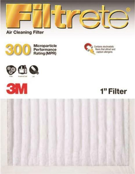 NEW 3M FILTRETE 301DC-H-6 CASE OF (6) 16x25x1 AIR FURNACE PLEATED HVAC FILTERS